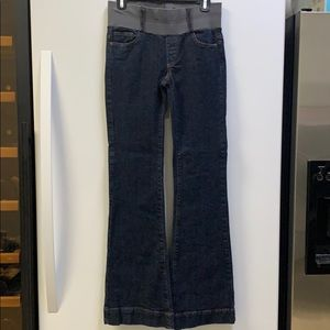 Denim - Super comfy, stretchy flare maternity jeans